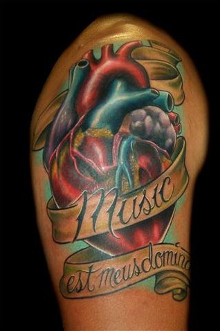 Admire the beauty of this bizarre heart tattoo picture. Heart Tattoo For Men