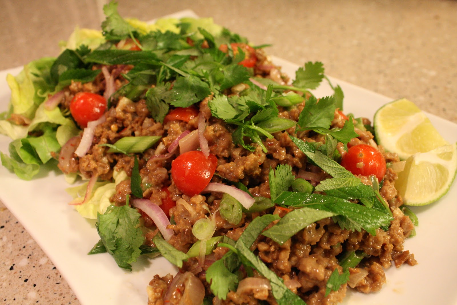 "Larb: Thai Spicy ""Beef"" Salad"