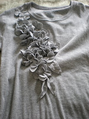 t-shirt flower tutorial