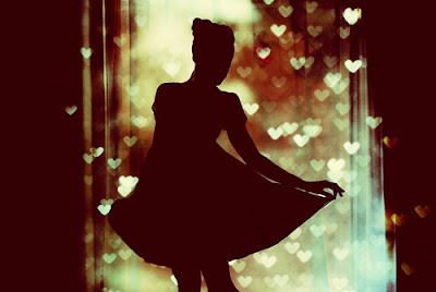girl bokeh hearts