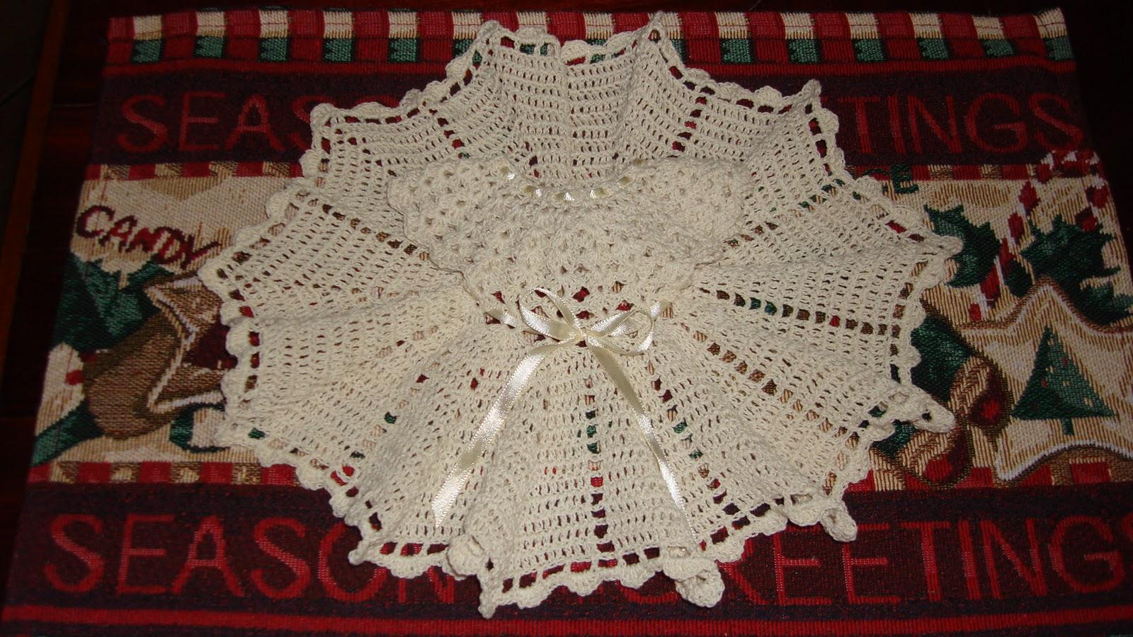 """Mossita Bella Crochet y Tejido """": Vestido a Crochet para Niño Dios"""