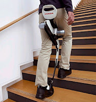 -'walking assist device'. This device takes the majority of the weight the person uses away. It can help people to walk and climb stairs.