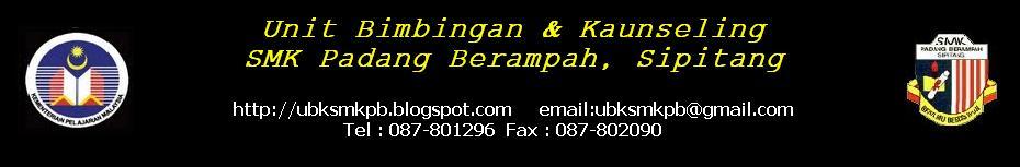 Unit Bimbingan Dan Kaunseling SMK Padang Berampah  89857 Sipitang Sabah