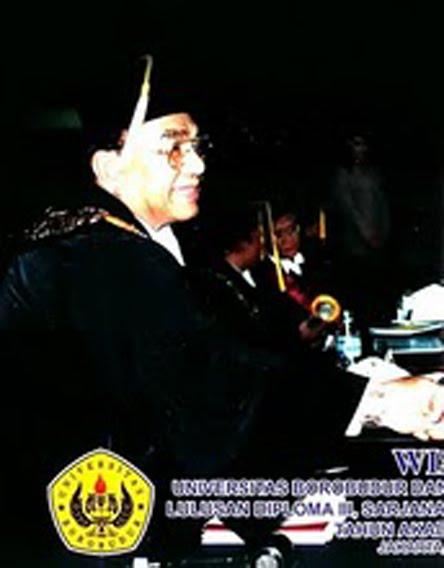 Prof Bashir Barthos Rampok Pendidikan dari Universitas Borobudur Jaktim Pembuat Ijazah Aspal Atut