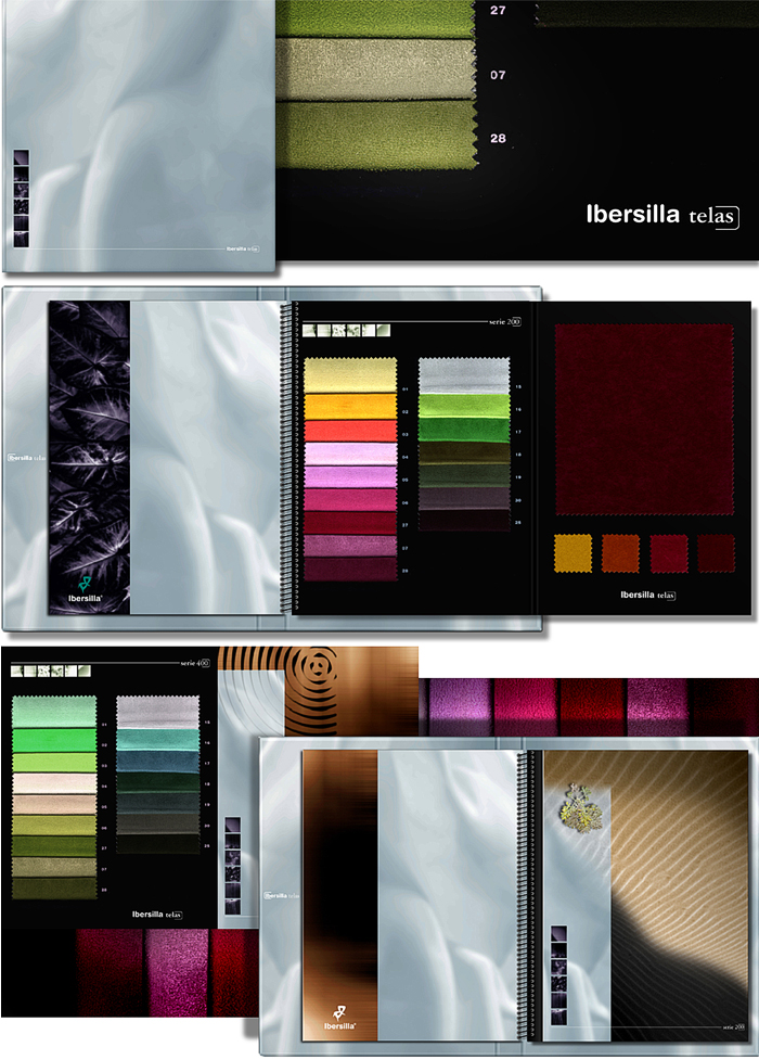 Ibersilla fabric samples catalog Design by Somerset Harris