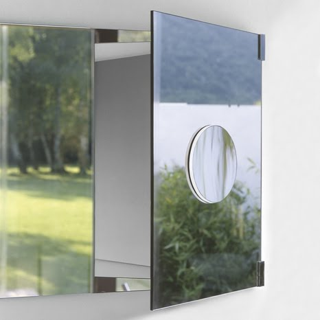 Most Medicine Cabinets Which Have A Magnifying Mirror Take Pains To Somehow  Conceal It; It Flips Up Or Folds Out From Inside The Unit.