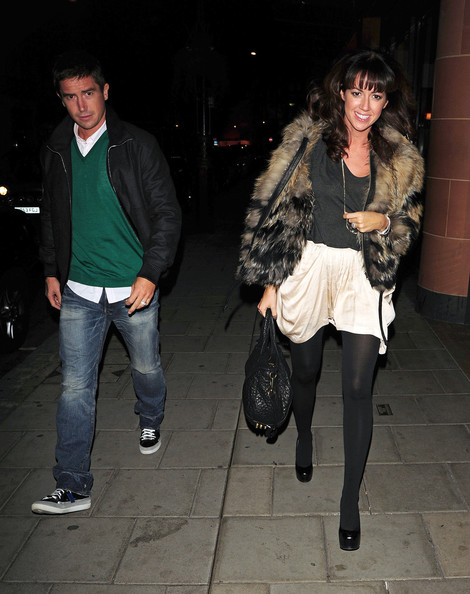 Harry Kewell and Sheree Murphy Leaving Ciprianis