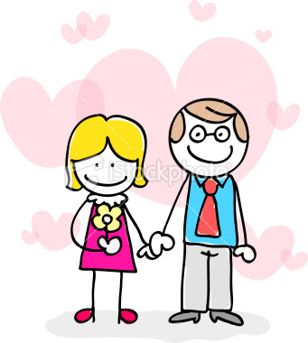 cute couples holding hands cartoon. couples holding hands