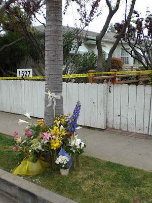 Julianna Redding Crime Scene Flowers - Santa Monica