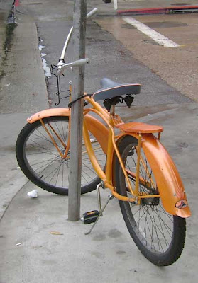 Orange Bike on Main St.