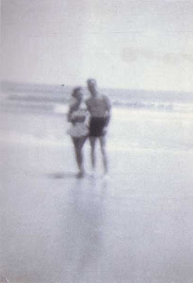 Ruth and Bud on Beach - circa 1951