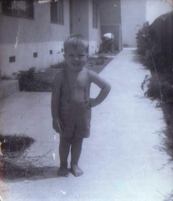 Brian Aldrich - Age 3 or 4 - Mariposa Ave. - L.A. 1959