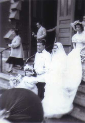 Parents Wedding Steps 1950