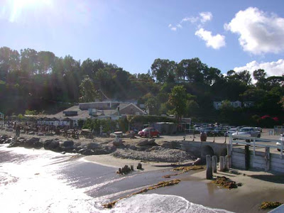 Paradise Cove Beach Cafe Viewed From Pier