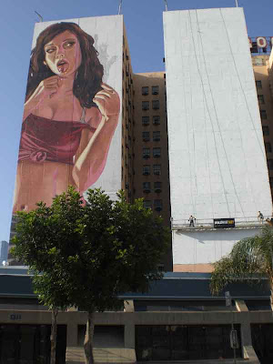 Babe & Scaffold at Olympic & Figueroa - Downtown L.A.