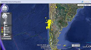 terremoti, tempo, reale, mappa