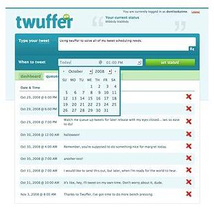 programmare, invio, tweets