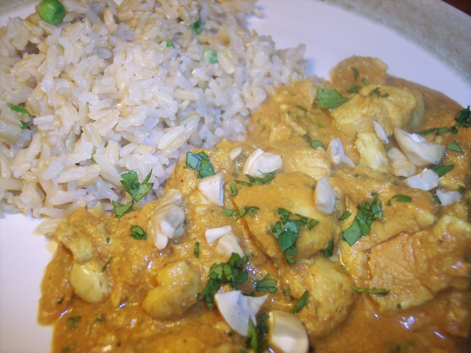 Savory Moments: Cashew chicken korma