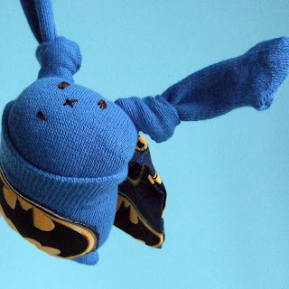 Batman sock bunny