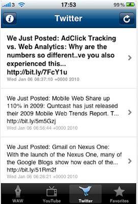Web Analytics World Launches iPhone App 2