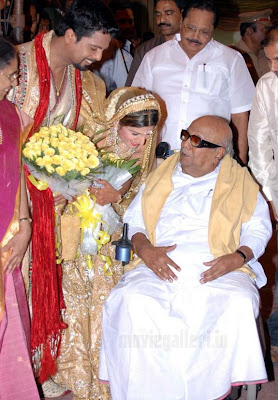 Film Actres Ramba wedding reception photos / stills with CM