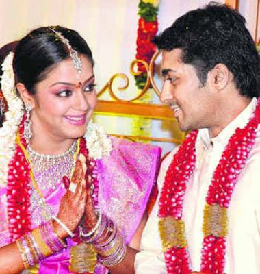 Surya and Jyothika wedding photo