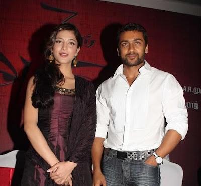 Suriya and Shruthihaasan Ezham Arivu Film Stills