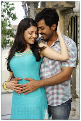 Karthi and Kajal Agarwal hot stills
