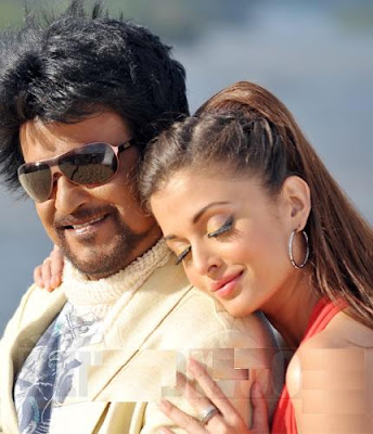 Rajini and Ash in Endhiran