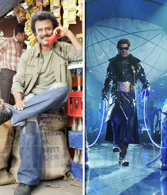 Endhiran and Shivaji - Rajini films