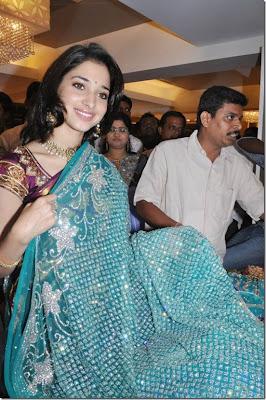 Tamanna in sari stills