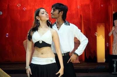 Dhanush and Tamanna hot still