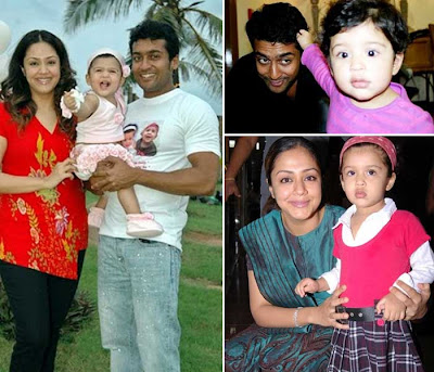 Surya and Jyothika Diya photo