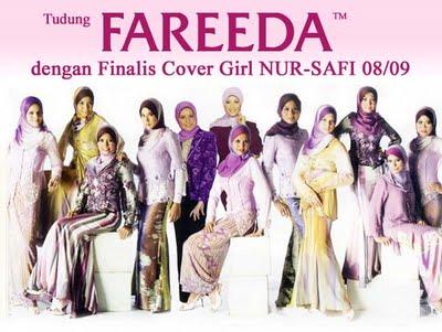 Finalis covergirl NUR-SAFI 08/09 dengan tudung FAREEDA