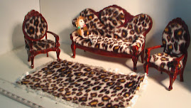 leopard 3 piece lounge rug doll