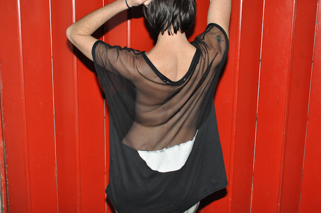 DIY Sheer Deconstructed Shirt « a pair  a spare