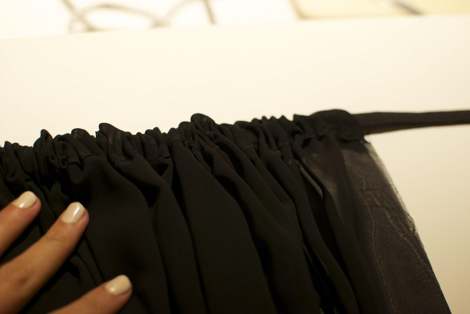 diy weekly sheer black maxi skirt a pair a spare