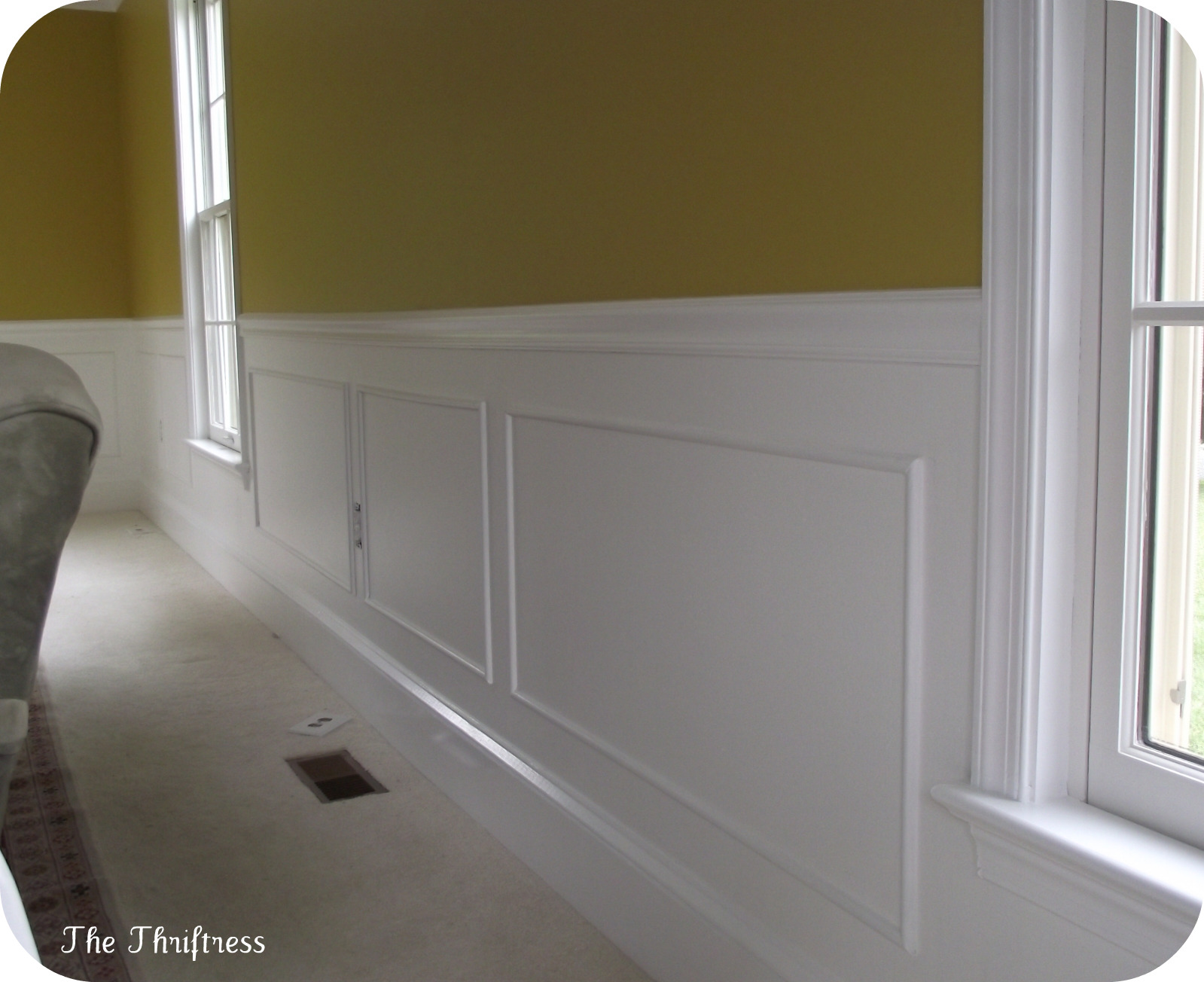 simple picture frame wainscoting guest