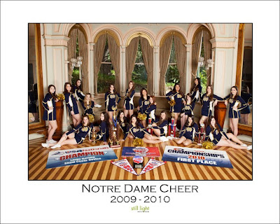 Notre Dame High School Cheerleaders Belmont Sports Photography by Still Light Studios