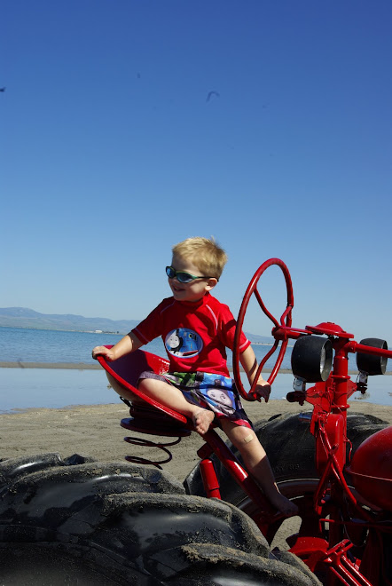 Ethan on the tractor