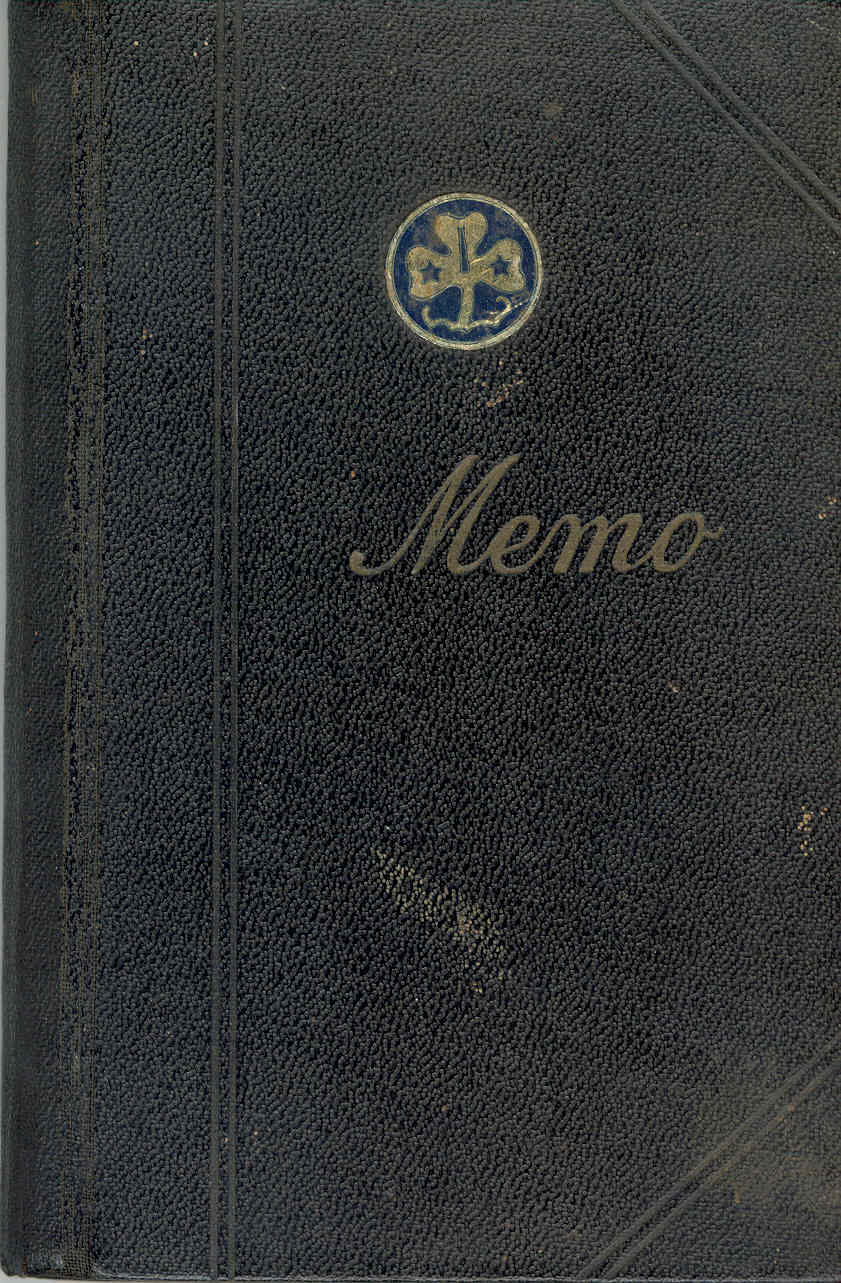 The cover of the original notebook