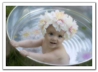 Baby Photo on Bath