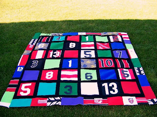 Old Soccer Jersey Quilt
