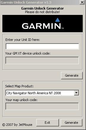 garmin unlock generator 2019