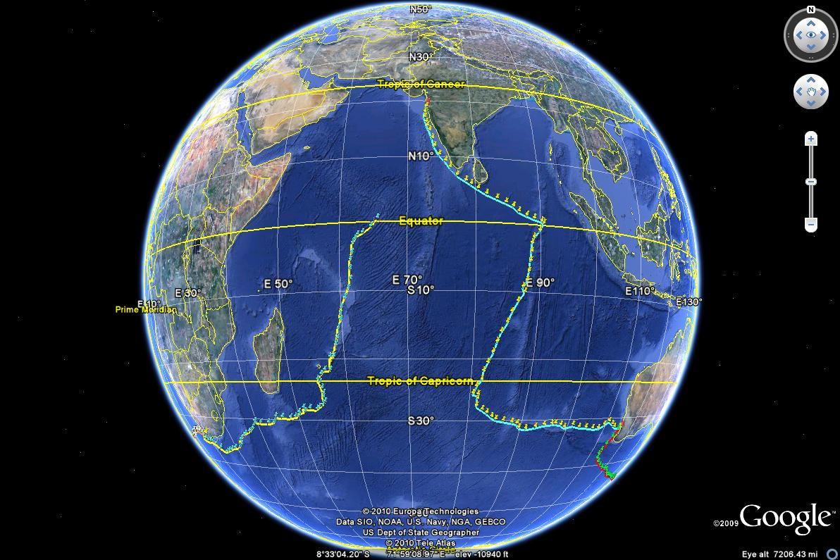 northern and southern hemisphere equator image collections