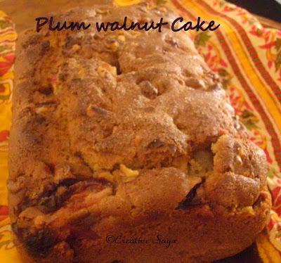 eggless plum walnut cake