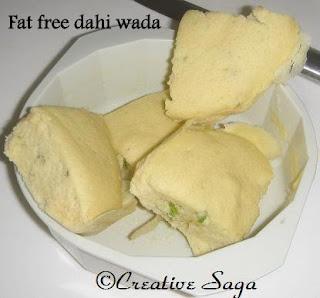 fat free dahi wada