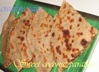 sweet coconut paratha