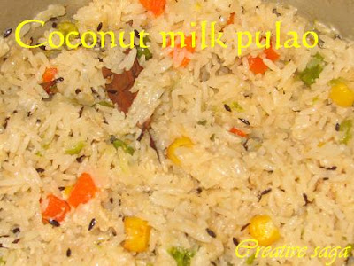coconut milk pulao