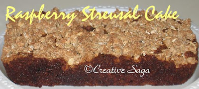 raspberry streusal cake